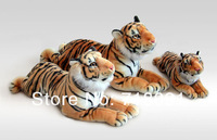 Детская плюшевая игрушка 2PCS 5% OFF, Plush And Stuffed Life-Like Toy Tiger, Lie Prone Posture, Brown And White Color, 63cm, 1pc