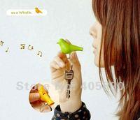 Couple Bird House Keychain Holder Whistle Key Ring Plug Gift