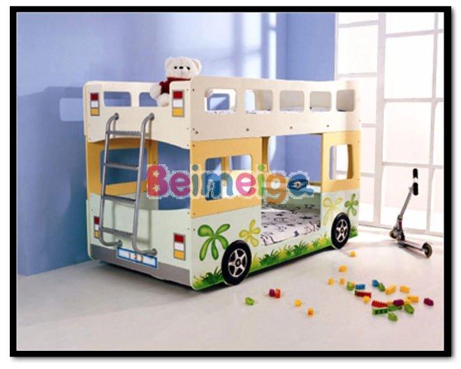 Fantaisie Belle Stronge MDF Bus Lit Superposé pour Garçon et Fille