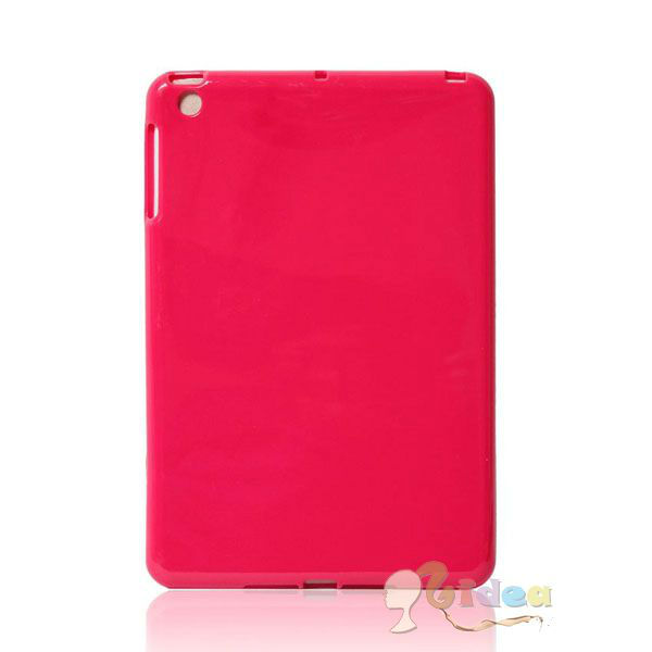 Gel Protective TPU Case for iPad Mini Hot Pink
