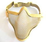 Товары для спорта Tactical TMC Metal Steel Wire Half Face Airsoft Mask Khaki