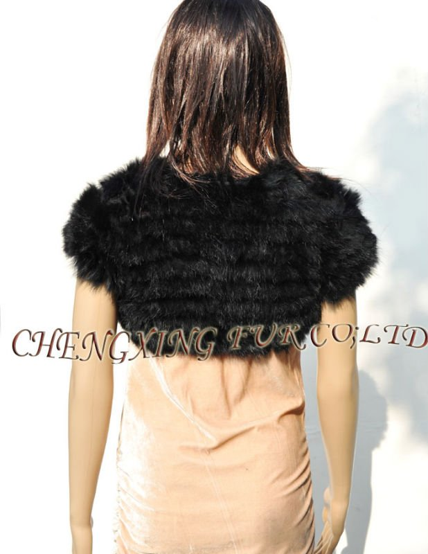 CX-B-96A Rabbit Fur Knit Wedding Shawl  ~ DROP SHIPPING