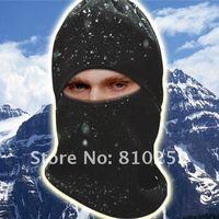 free shipping 2012 women men new fashion black warm fleece full face cover winter ski mask beanie hat scarf hood CS hiking 194