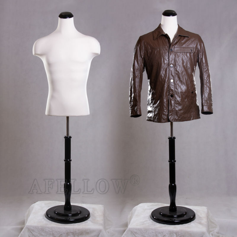 AFELLOW Male Mannequin Maniqui High Quality Upper-body Fabric Dress Forms Human Dummy