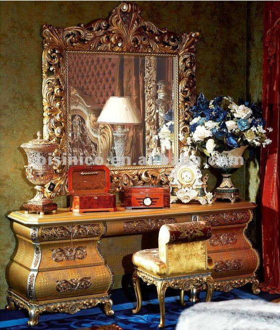 Casa de lujo juego de dormitorio, juego de dormitorio clásico ...
