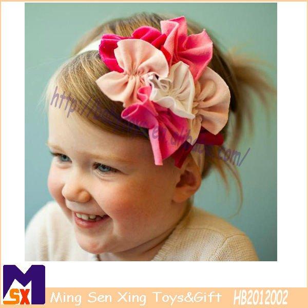 Como hacer flores para diademas de bebés , Imagui