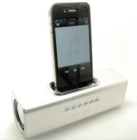 Аудио колонка Drop shipping! New 3.5mm Mini Audio Speaker Dock Station For iPhone iPod Touch 4 3G PC MP3 IP15