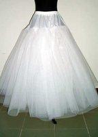 brand new white 3-layer no-hoop petticoat \underskirt\ slip\prom\ wedding dress