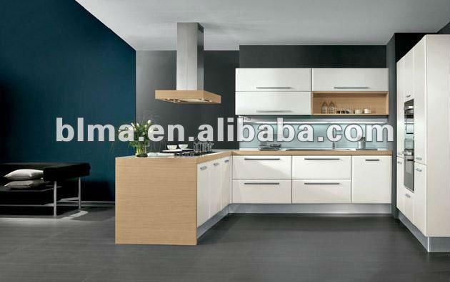 Modernos muebles de cocina con pvc de la puerta cocinas for Gabinetes modernos