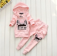 Комплект одежды для девочек Girls bud silk even cap long sleeve sport suits, coats + pants Children's clothing