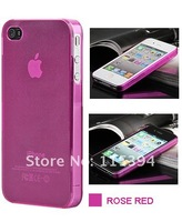 Чехол для для мобильных телефонов Hot Soft matte transparent case for iphone 4 4G 4S 0.5mm ultra thin crystal case 6 MIX COLORS iphone defender case