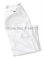 животное дизайнер коралловых ватки ребенка спальный мешок младенческой sleepsacks получение одеяло обертывание