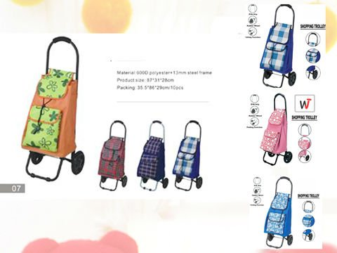 pvc leather printed waterproof shopping trolley,smart cart