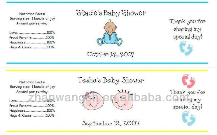 baby shower mamá de agua etiqueta de la botella-Etiquetas de ...