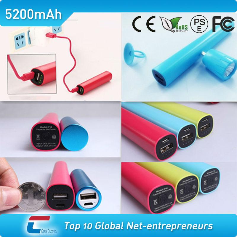 tube LED light fashion design 5000 mobile power