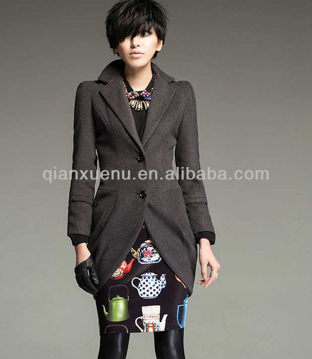 SCW005 latest woman long design british style coat