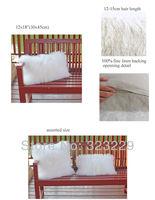 Real mongolia fur decoration hug pillow   Long hair genuine fur sofa cushion  Whole sale