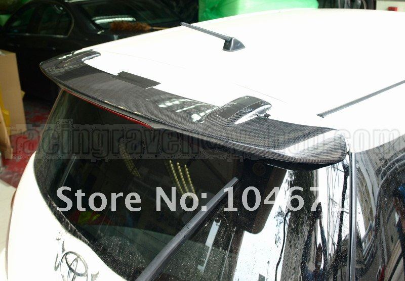 CARBON FIBER 04-06 xA JDM IST T REAR WING ROOF SPOILER (Brand new, no MOQ, In stock, Free shipping)
