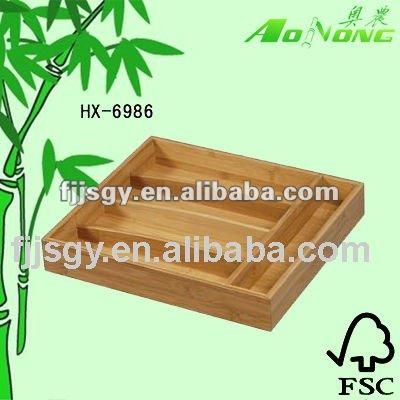 bamboo knife box