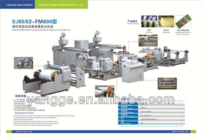 German Design plastic film folding Laminating machine