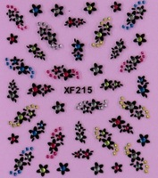 Free shipping 50pcs/lot  Mix color 10 kinds of Korean style  3D DIY nail Stickers,beautiful decoration nail art  XF215-224