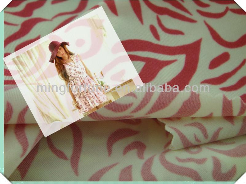 full dull spandex polyester printed weft swimwear fabric