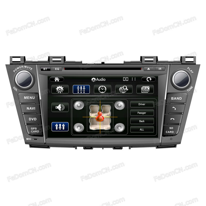 car multimedia dvd player and auto gps navigation for Mazda 5