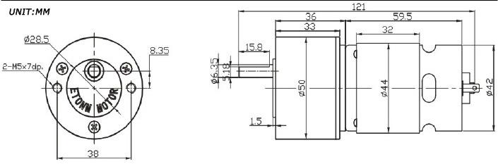 12V Micro Spur Gear PMDC Motor