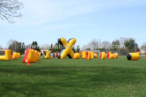 hot pvc cheap air inflatable camouflage paintball bunkers for sale