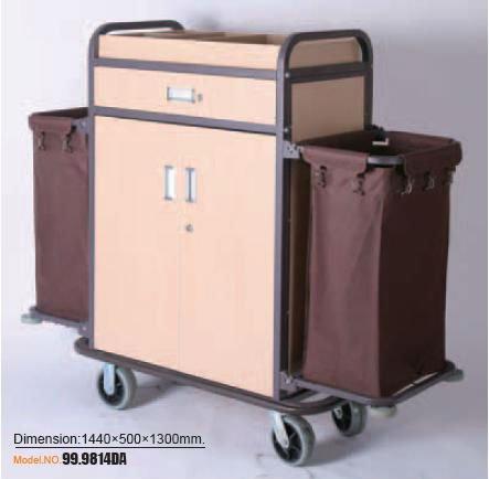 hotel maid cart trolley