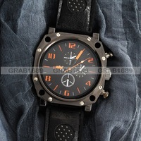 Наручные часы new design Men's Wrist Quartz Watch with Black Dial Belt top quality