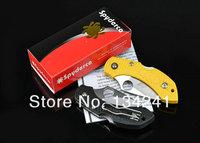 Охотничий нож! OEM Spyderco H1 NEW ABS handle Pocket Folding knife camping Knife \hunting \ Rescue \ pocket