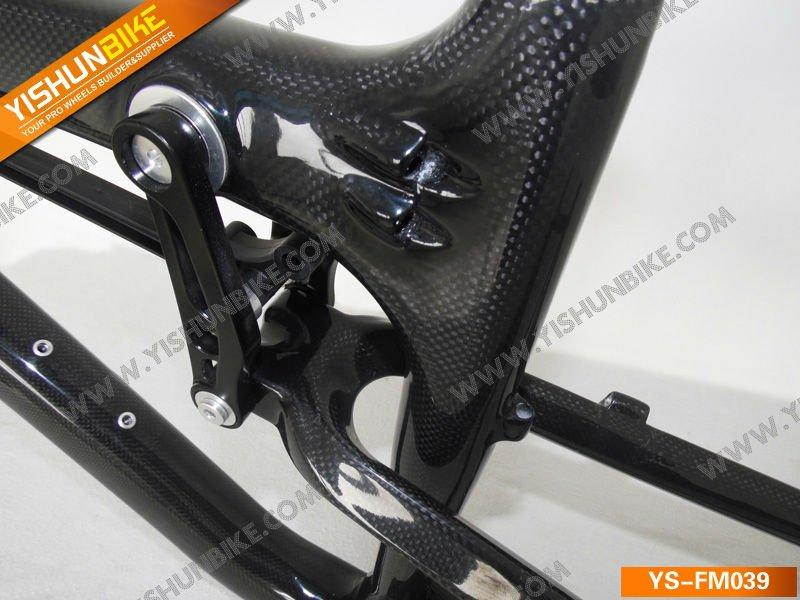 YISHUNBIKE venda Quente! FM039 2012 26er suspensão total de carbono quadro de bicicleta de montanha