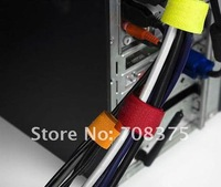 120pcs mixed/Reusable Velcro Cable Ties Velcro Cable Straps Self locking cable tie  free shipping