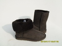Женские ботинки sheepskin classic 5825 chocolate red half snow winter boots
