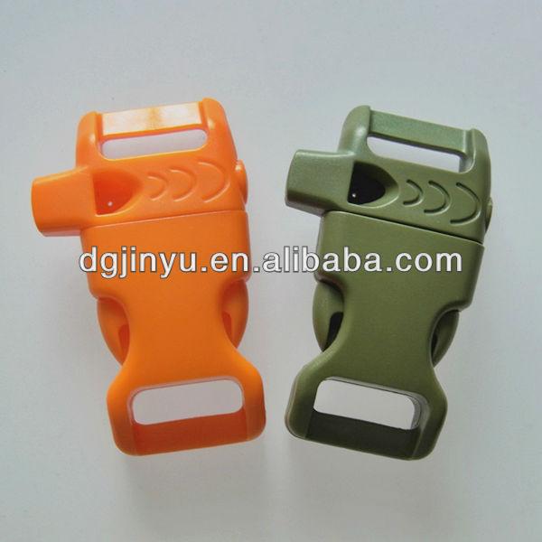 Popular 1/2'' Curved Plastic & Metal Buckle for paracord Bracelet