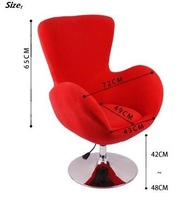 Height Adjustable Bar Stool Flannelette Fabric with flat base Office Chair