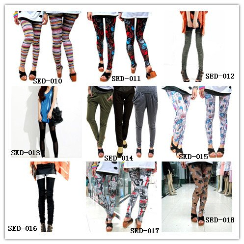 East Knitting FREE SHIPPING+Wholesale 9-358 2012 Fashions Celebrity Style Neon Metallic Electric Zippers Leather Leggings/Tights