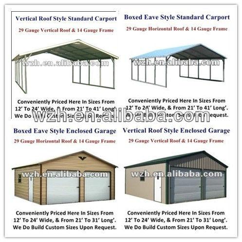 Simple Design Flat Roof Cheap Modular Garage Storeroom