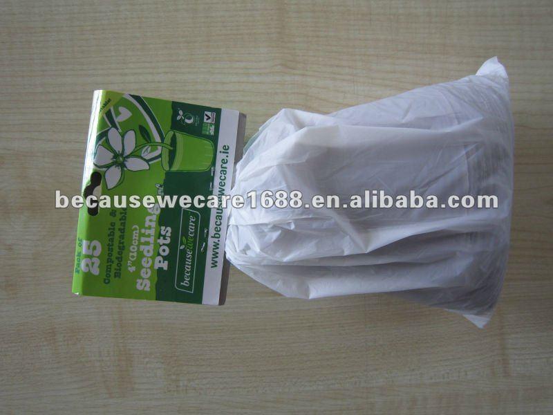 Compostáveis& biodegradáveis sacos de mudas