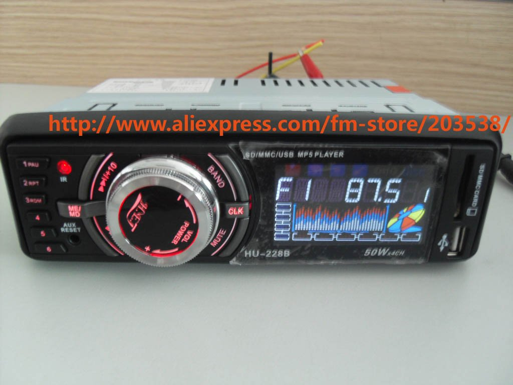 Free shipping car mp3 player 228B 12V 50W car player