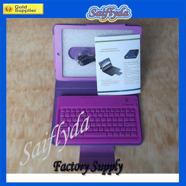 2013 new design keyboard silicon rubber Bluetooth keyboard case for ipad mini