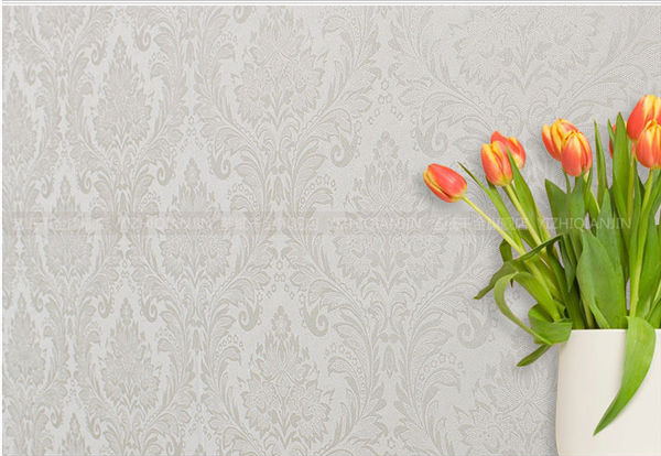 washable pvc embossing interior wallpaper sale in China