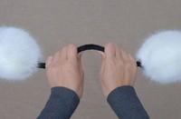 Женские наушники для защиты от холода Ultralarge earmuffs high quality fox fur earmuffs fur ear package thermal plush earmuffs ear