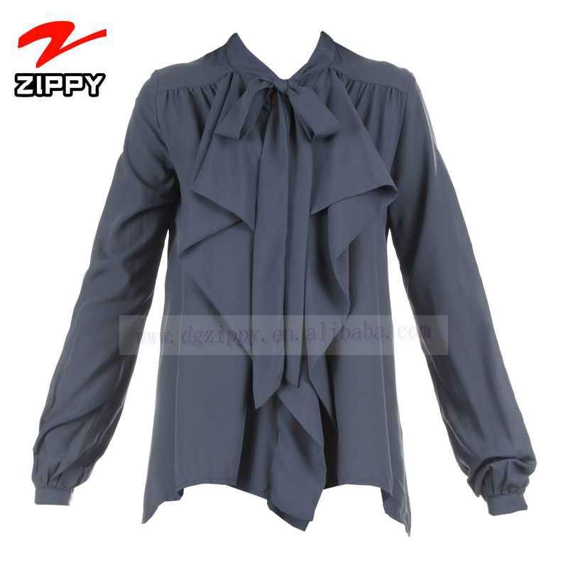 la parte superior de la marca las mujeres blusa camisa modelo con