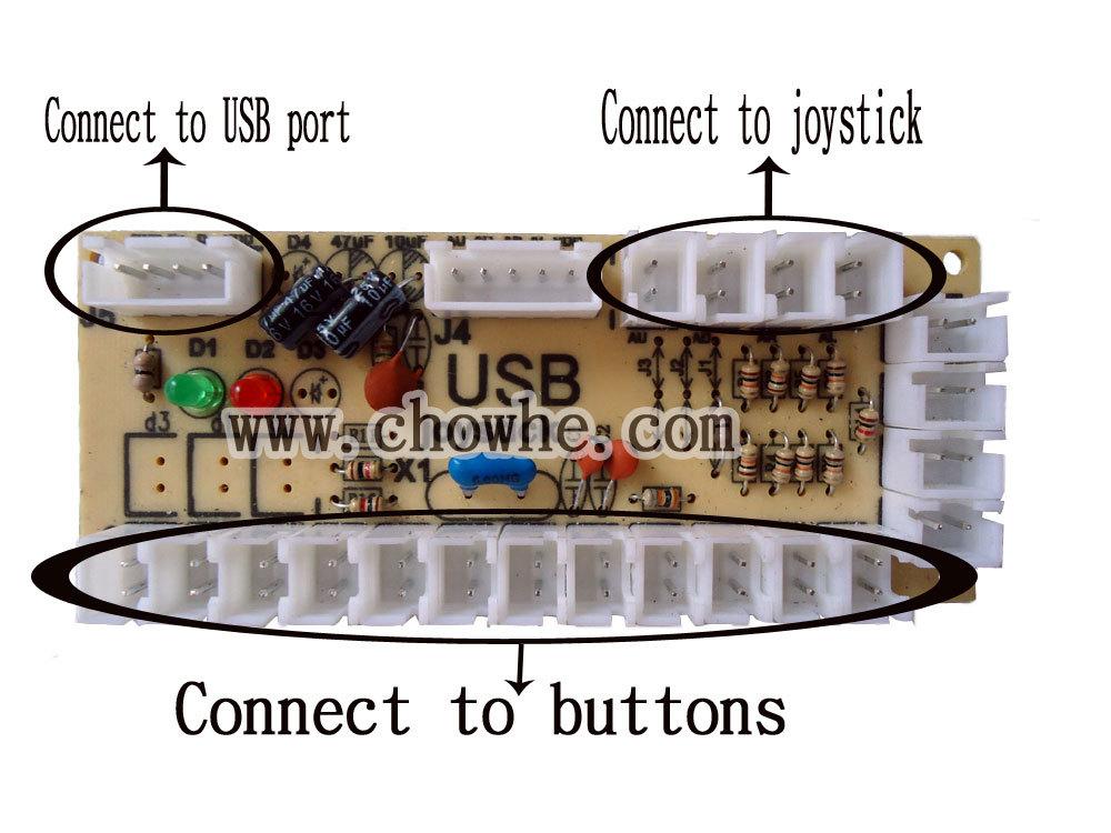 Details about 2pcs PC joystick USB joystick PCB with Wires, USB
