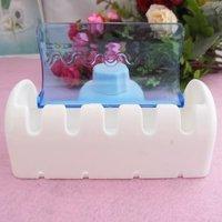 Набор для ванной Home Bathroom Toothbrush SpinBrush Suction Holder Stand Rack Plastic Set 5 Bin[010446
