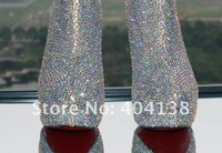 Wholesale And Drop Shipping,14cm or 16cm crystal jewel hight heel Women's Boots, pumps, ankle boots size 34-42