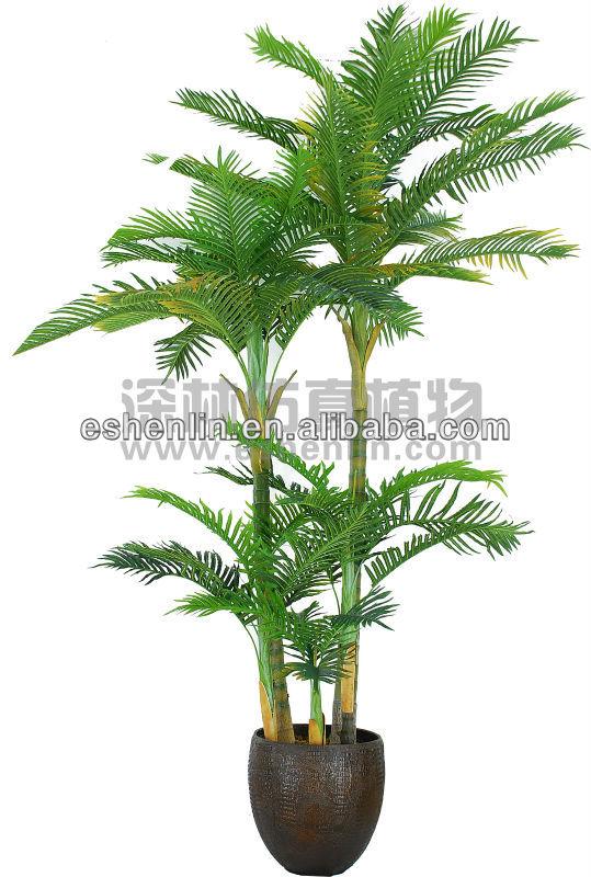 Trois tronc d coration ventilateur palmier artificielle palmier faux plan - Plante artificielle palmier ...