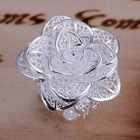 серебро 925, кольцо, высокое качество, модные ювелирные изделия, никель свободный, противоаллергические цветок кольцо hwll пластического